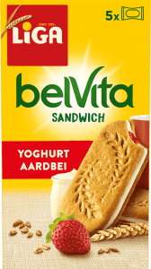 LiGA belVita Sandwich Yoghurt-Aardbei