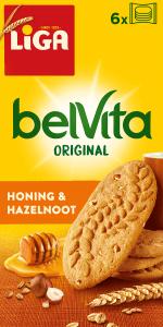 LiGA belVita Plain Honing & Hazelnoot